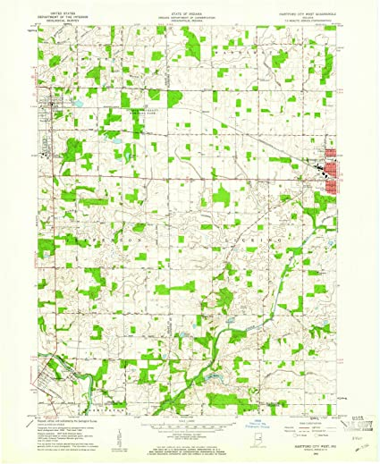 Hartford City Indiana Map.Amazon Com Indiana Maps 1960 Hartford City West In Usgs