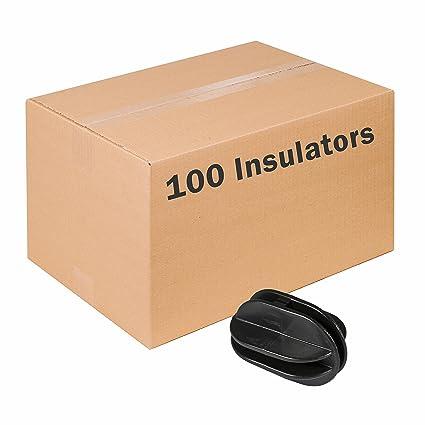 T-360 Electric Fence Insulators 100 PK BLACK LockJawz Line /& Corner Post