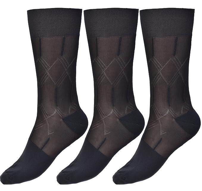 Amazon.com: Calcetines delgados de seda para hombre, de ...