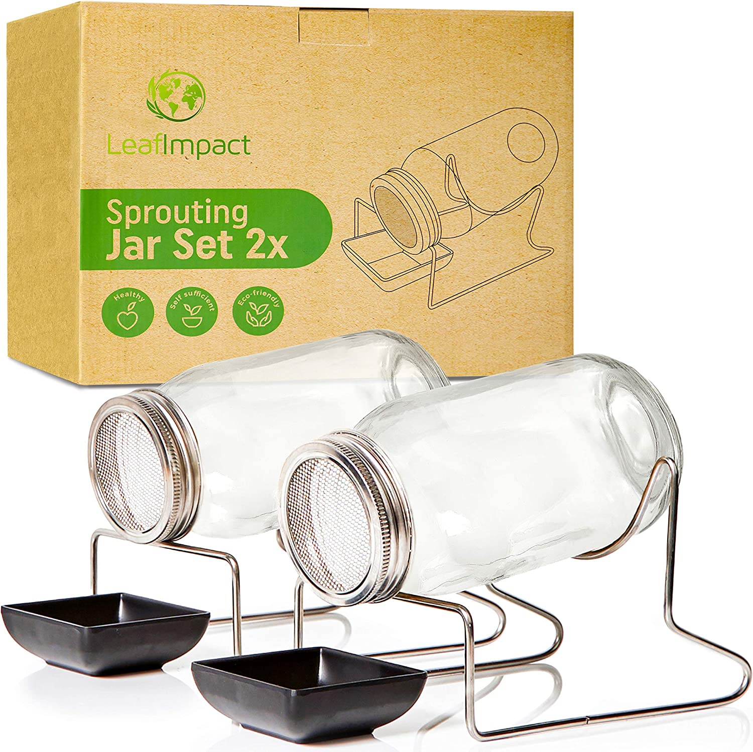 Seed Sprouting Jar Kit by LeafImpact