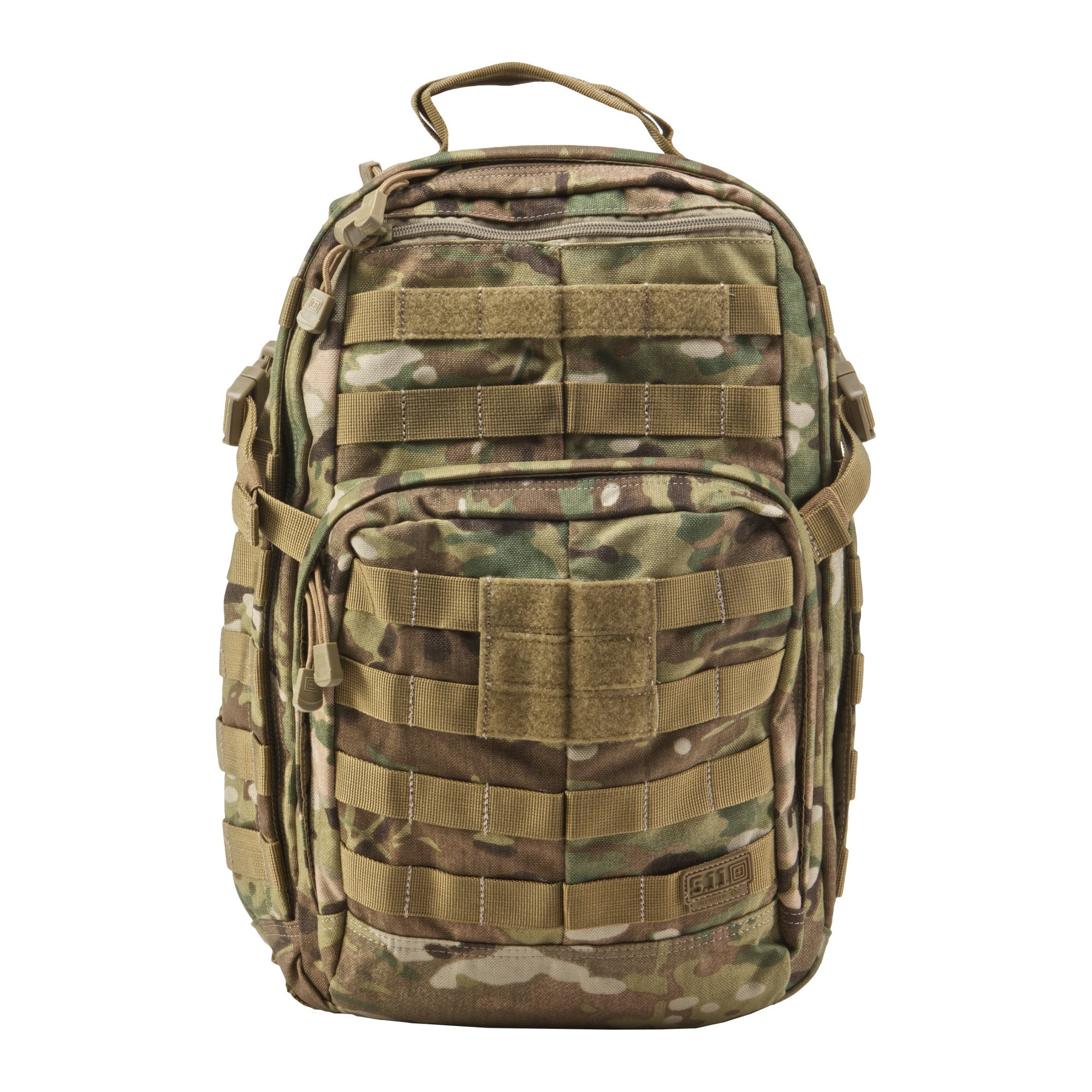 5.11 RUSH12 Tactical Military Assault Molle Backpack, Bug Out Rucksack Bag, Small, Style 56892, Multicam