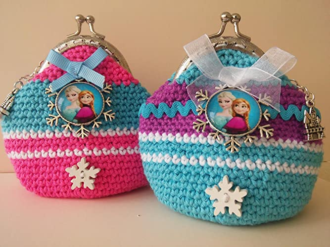 Monedero Frozen crochet.: Amazon.es: Handmade