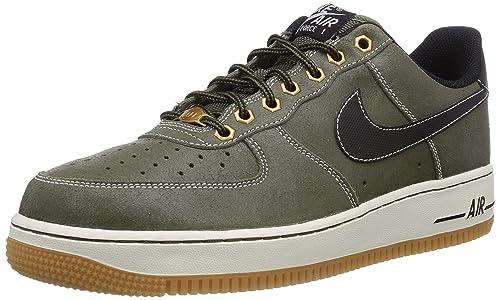 huge discount ba254 cc040 Nike Air Force 1 - Zapatillas para Hombre, Color Grau (MDM Olive blck-SL-gm  lght brwn), Talla 45  Amazon.es  Zapatos y complementos