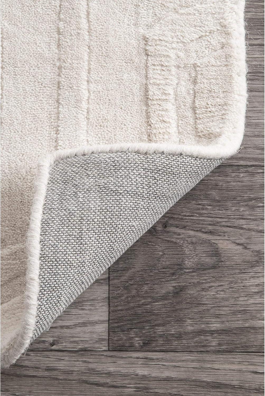 nuLOOM 200RUCS03B-508 Hand-Woven Abstract Fancy Wool Blue//Grey Rug 5-Feet X 8-Feet