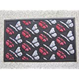 """Door Mat Natural Coir and Rubber Size 18"""" X 30"""" Butterfly water retainer"""