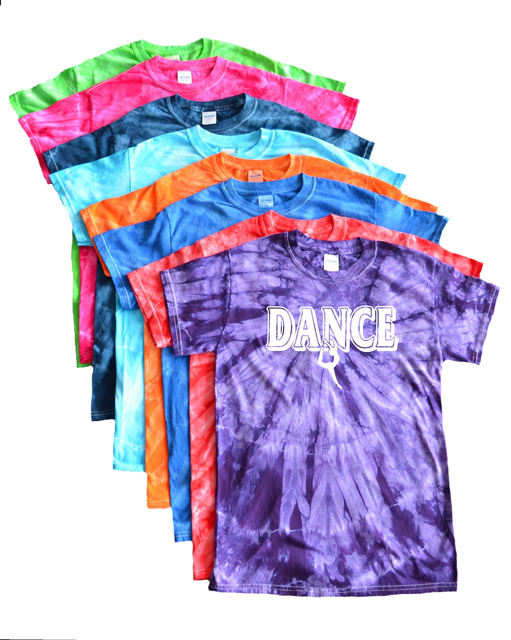 JANT girl Dance Tie Dye T-Shirt - Dancer Logo (Lime, S) by JANT girl