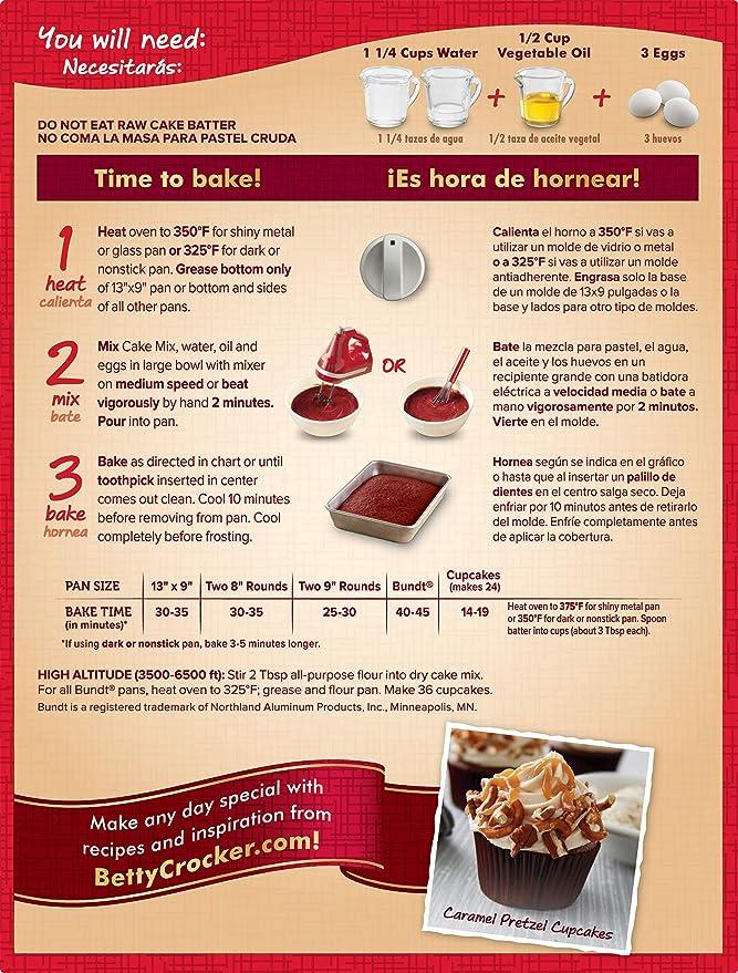 Betty Crocker Super Moist Red Velvet Cake Mix - 432 gr: Amazon.es: Alimentación y bebidas