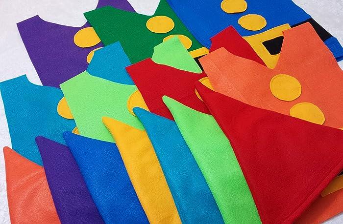 de268f3584f Amazon.com  Kids Set of 7  Seven Dwarf Costume Sets (Tunics