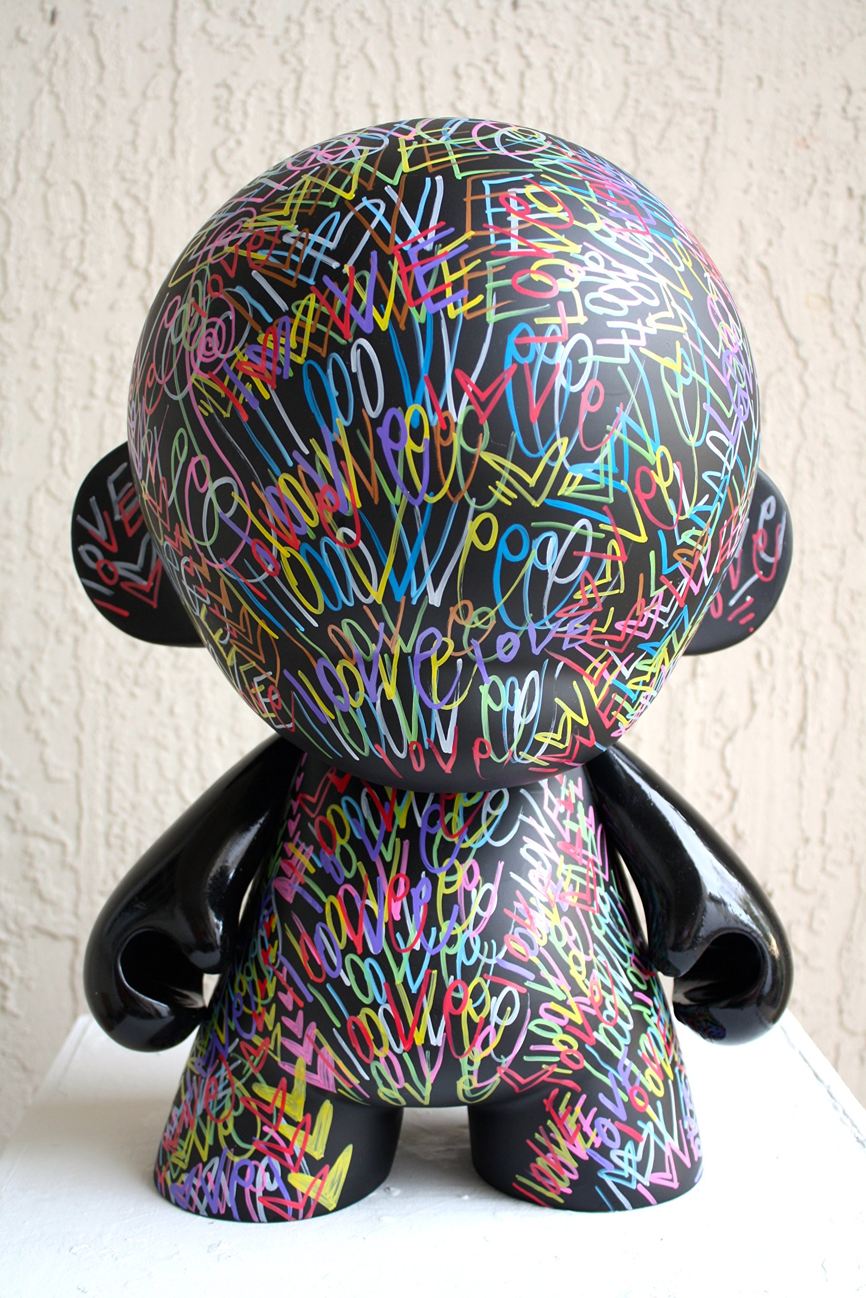 Chris Riggs kidrobot mega munny dunny kid robot vinyl toy modern 18'' nyc contemporary modern graffiti pop art love world peace hearts street