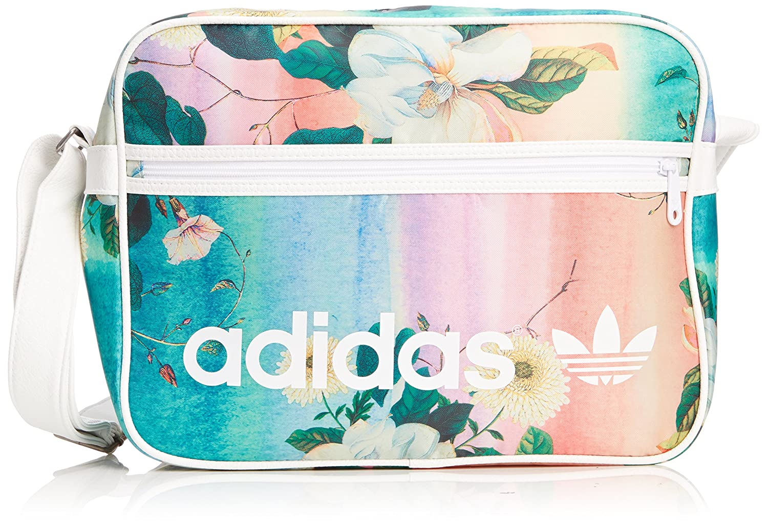 promo code 43511 e498f adidas Women s Airliner Floralina Shoulder Bag - Multicolor White  Amazon.co.uk   Sports   Outdoors