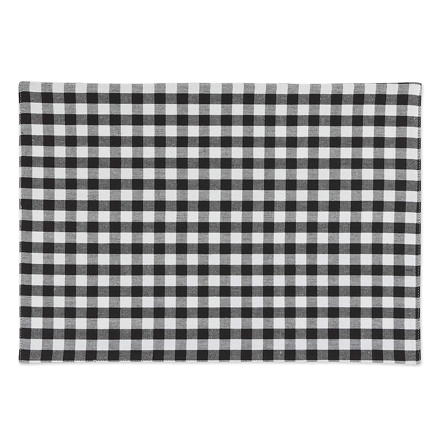 Black /& White DII Pillow Cover Gingham//Check Kitchen /& Home D/écor 12x20