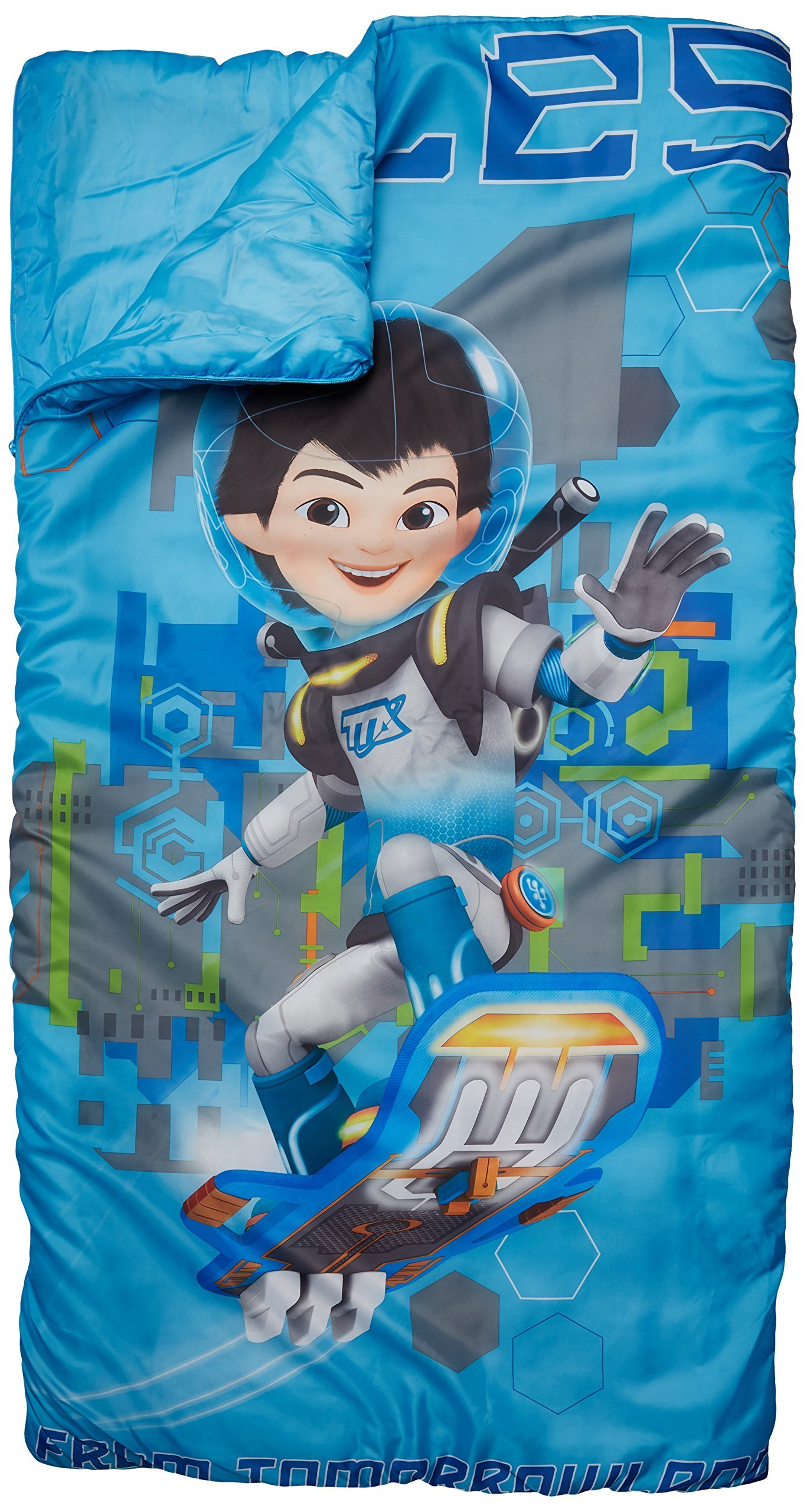 Disney Junior Miles from Tomorrowland Slumber Bag, Bonus Backpack with Straps