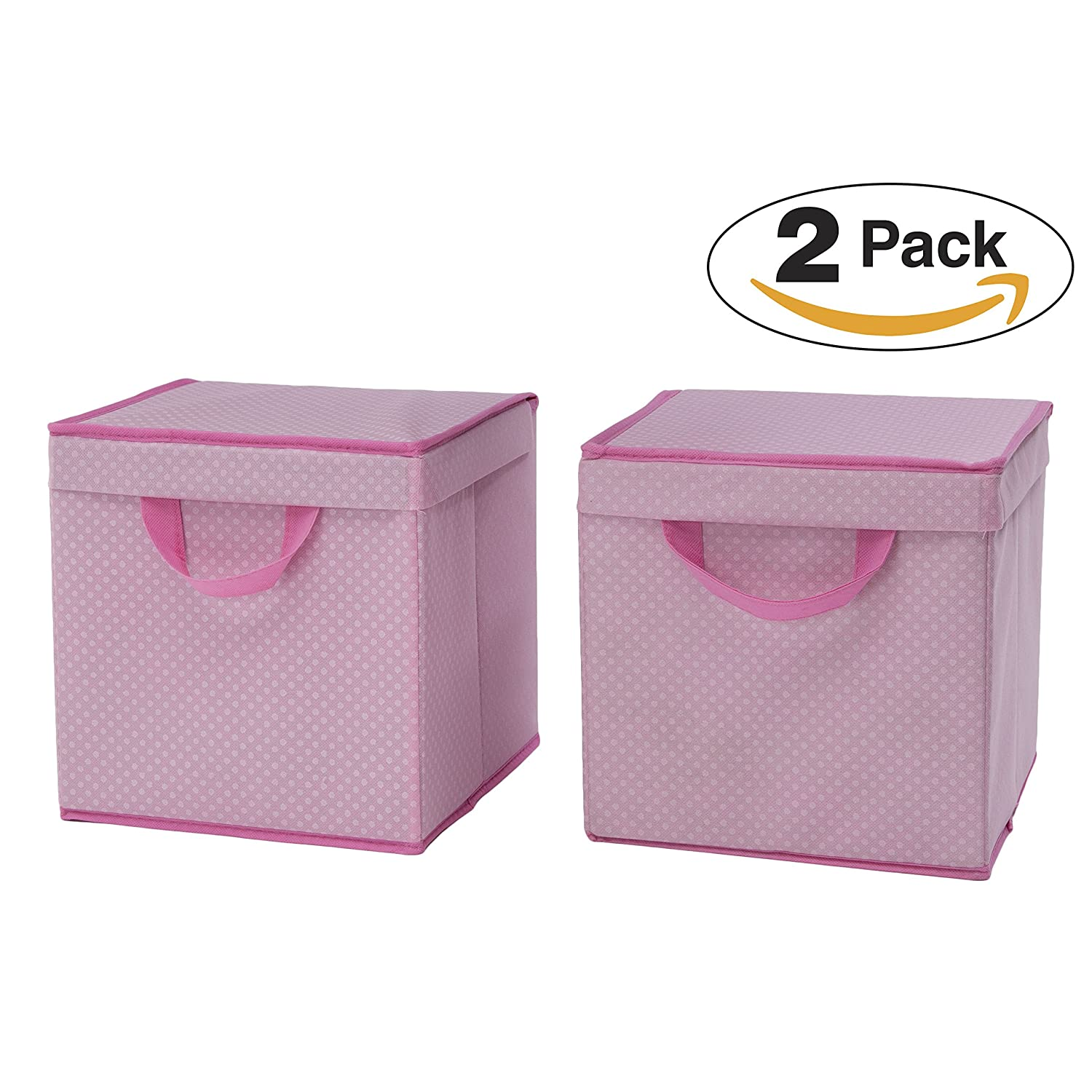 Delta Children 2 Piece Lidded Storage Bins, Barely Pink Delta Enterprise Corp - PLA SS2165-689