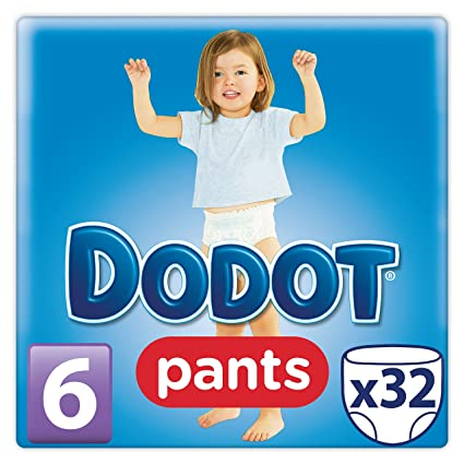 Dodot Pants - Pack de 32 pañales, talla 6, 16+kg