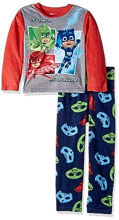 fe16abbba PJ MASKS Boys Bedtime Heroes 2-Piece Fleece Pajama Set Bedtime ...