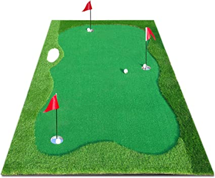 Amazon.com : XENBEY Pro Golf Putting Green Mat Indoor Outdoor Large Golf Putting Mat System Golf Training Aid Practice Putter Mat for Home Office Backyard Use (5 by 10ft) : Sports & Outdoors