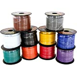 14 Gauge 4 Color Pack in 100 ft Roll (400 Feet Total) Copper Clad Aluminum CCA Low Voltage Primary Wire for Automotive Harnes