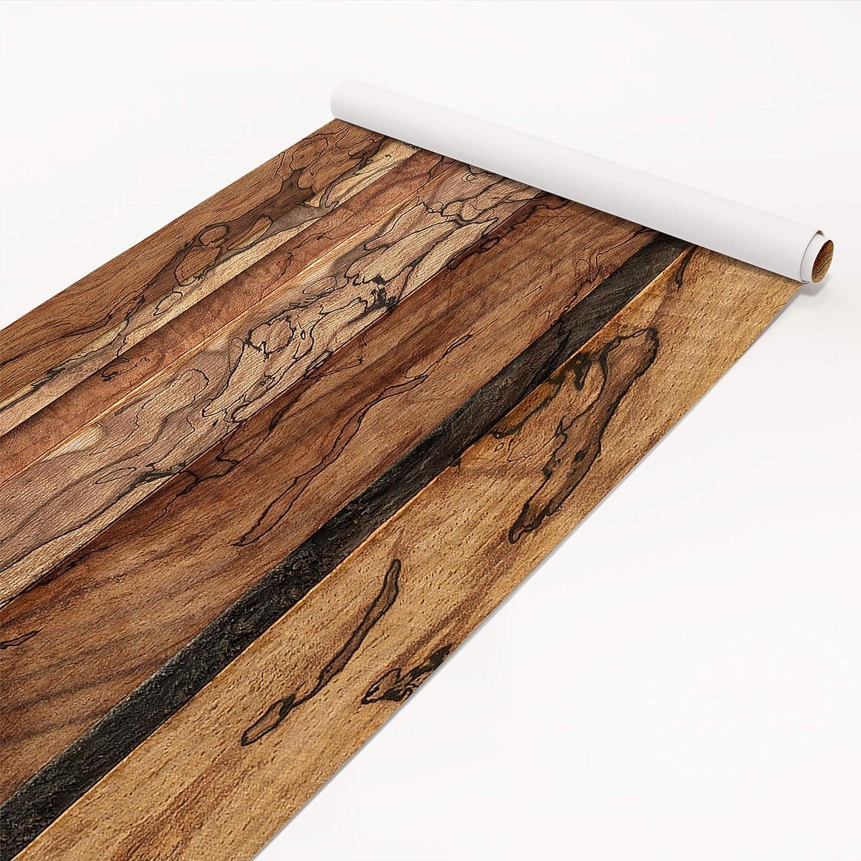 Klebefolie Holzoptik - Holzwand Flamed - Dekorfolie Holz, Holz, Holz, Dekorfolie, Möbelaufkleber, DIY Designfolie, Sticker, Meterware, Größe HxB  100cm x 100cm ef63c5