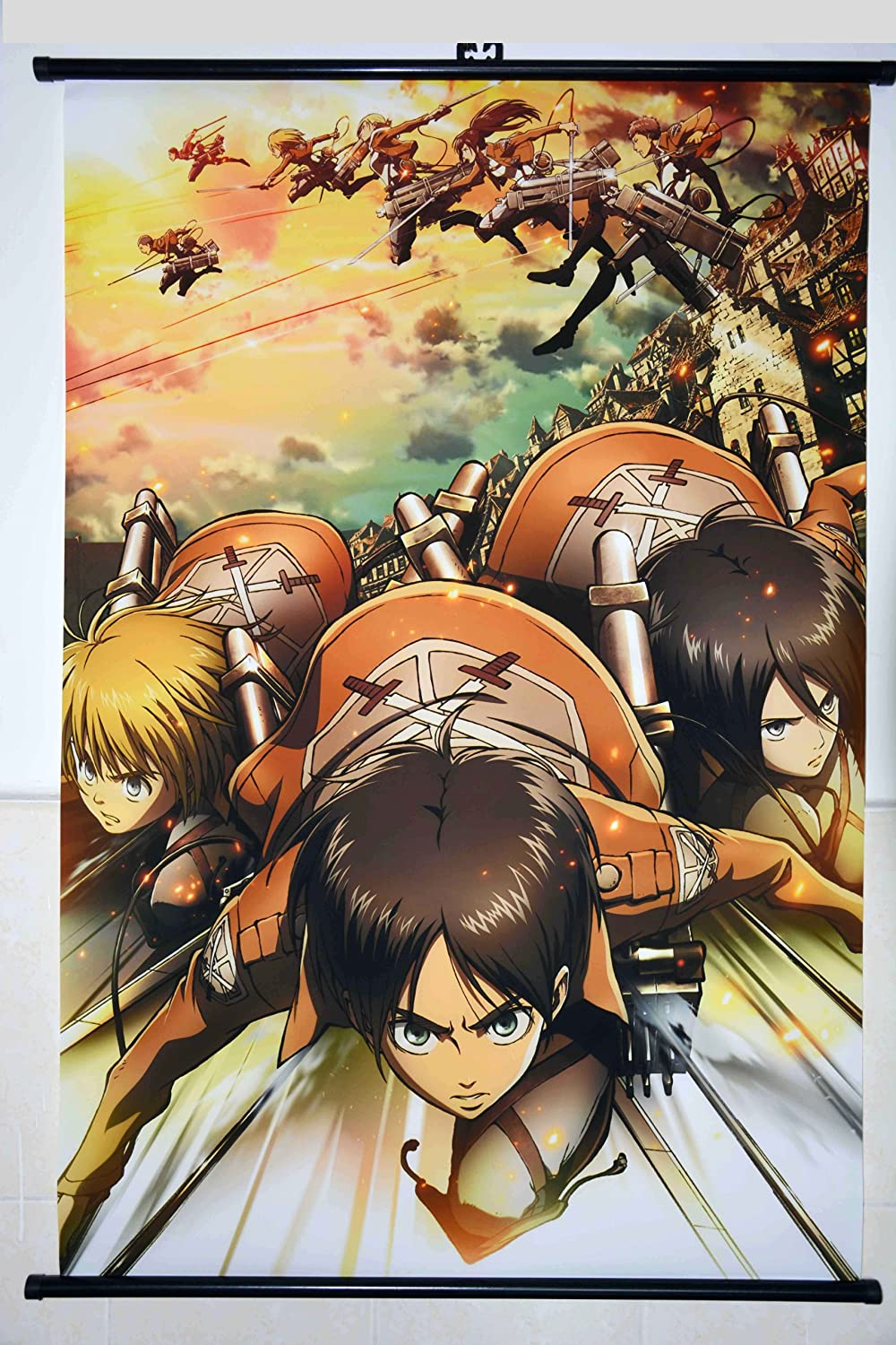 Amazon 1 x home decor attack on titan shingeki no kyojin amazon 1 x home decor attack on titan shingeki no kyojin cosplay wall scroll poster 236 x 354 inches customize prints posters prints solutioingenieria Images