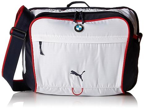 e4d6bfd2efff Amazon.com: PUMA Men's BMW Motorsport Messenger Bag, White, One Size ...