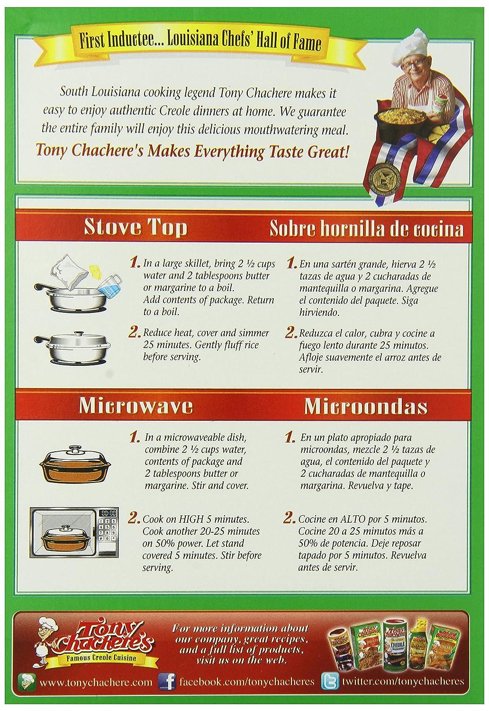 Amazon.com : Tony Chacheres Rice Mix Roasted Chicken, 7 ...