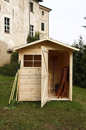 SRL - Código C200/1 - Caseta de madera para jardín, para almacenamiento de herramientas: Amazon.es: Jardín