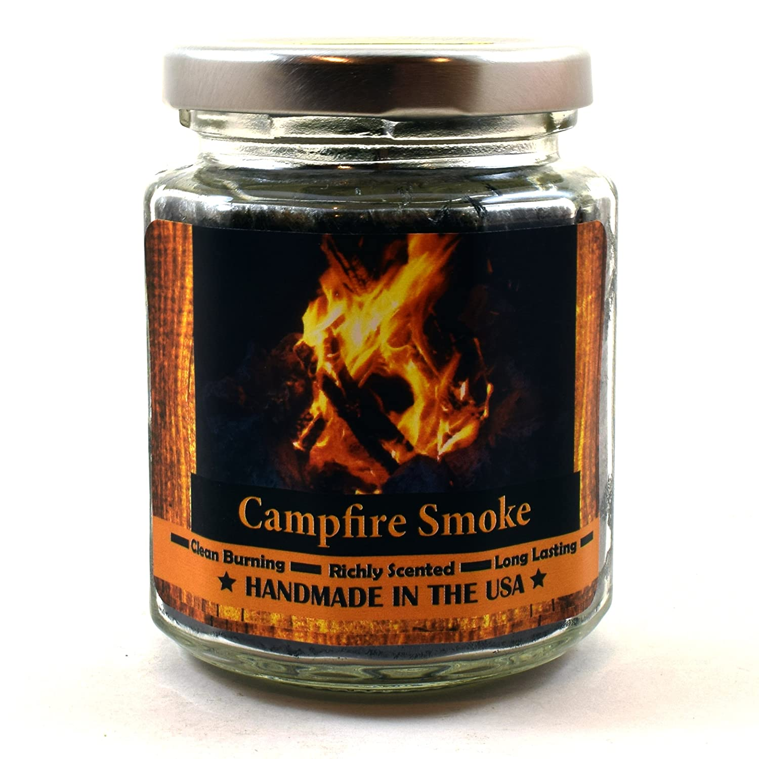 Buy Campfire Smoke Wood Wick Candle 8 Oz Super Scented Natural Wax