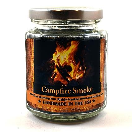 Amazoncom Campfire Smoke Wood Wick Candle 8 Oz Super Scented
