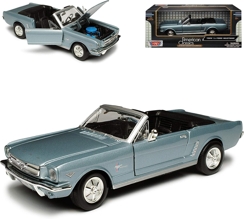 Motormax Ford Mustang Cabrio 1964 Blau Silber 1 Generation 1964 1 2 1 24 Modellauto Modell Auto Spielzeug