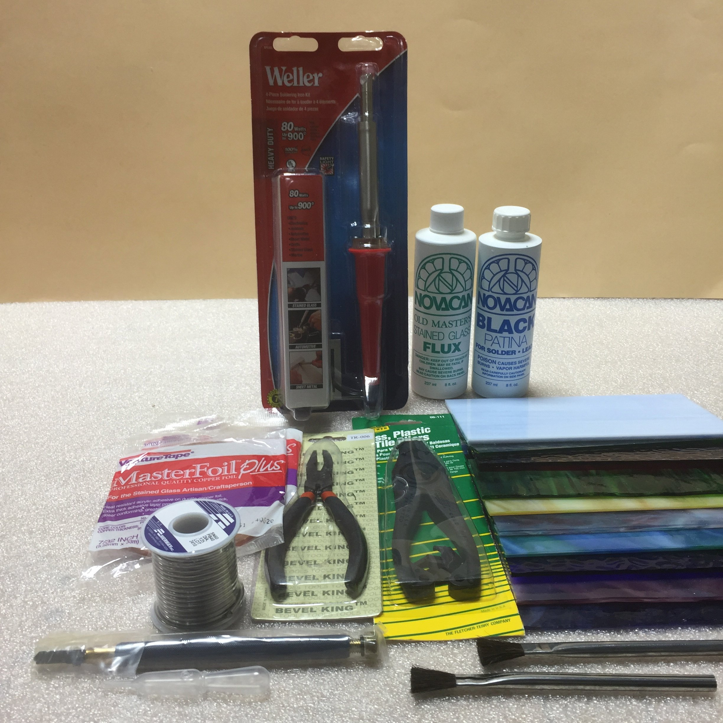 Stained Glass Start-Up Kit (10 Items) by Sun and Moon Stained Glass