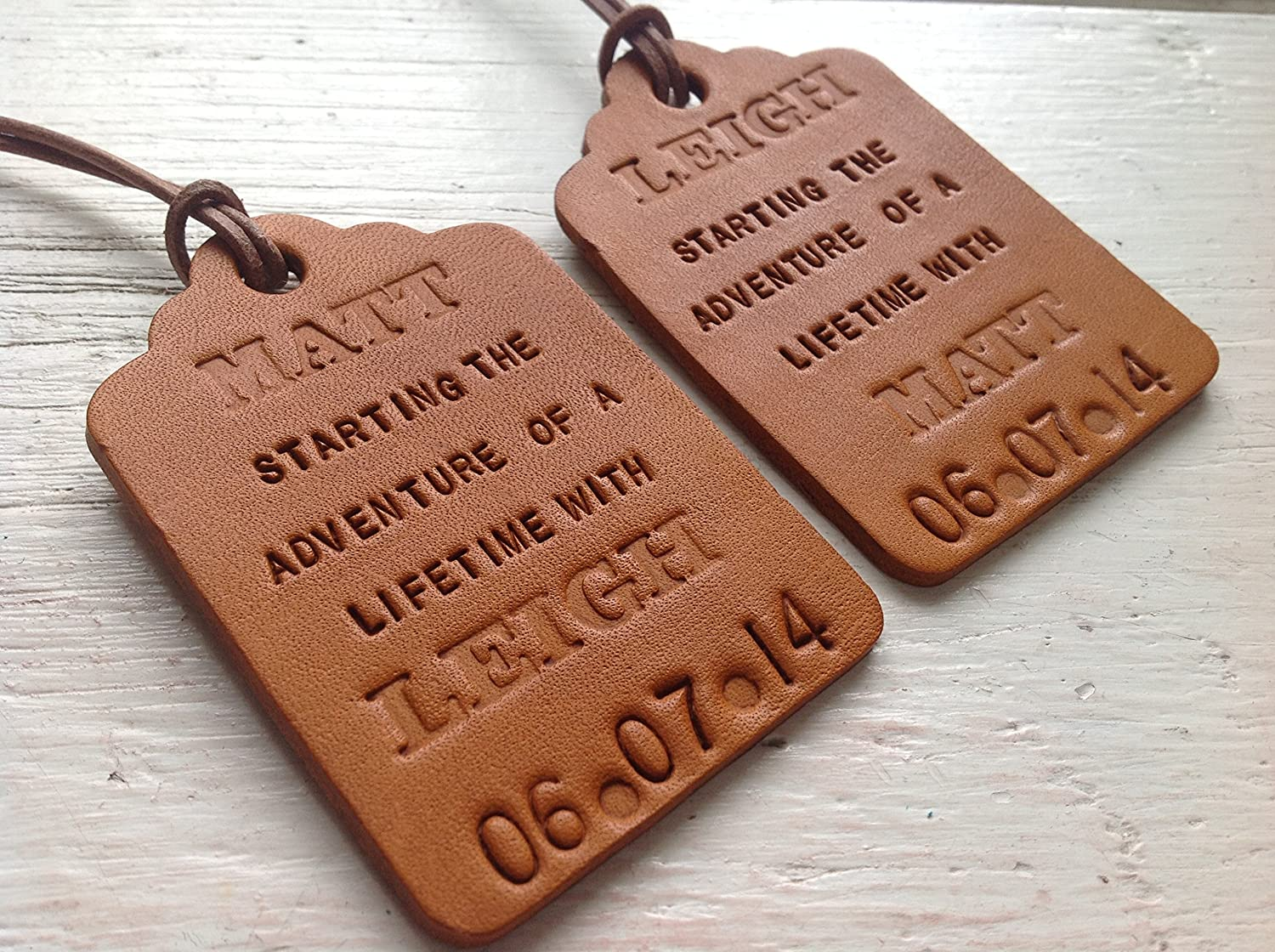 Adventure of a Lifetime Bride & Groom Personalised Handmade Tan ...