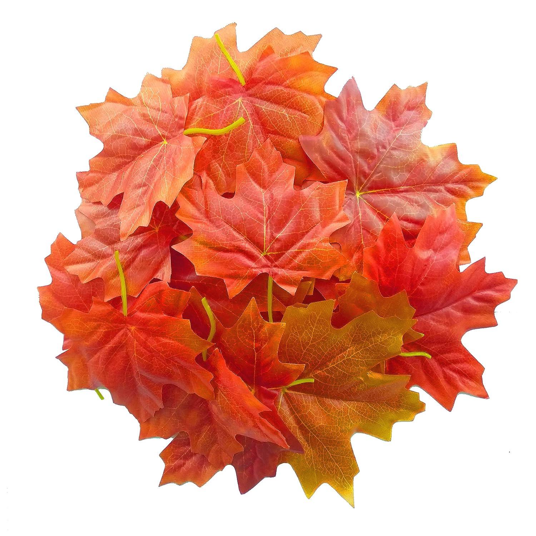 Famicitate 人工カエデの葉 秋の葉 結婚式 クリスマスパーティー イベント 装飾用 レッド 02-WJ058A B07HH6QHGS レッド