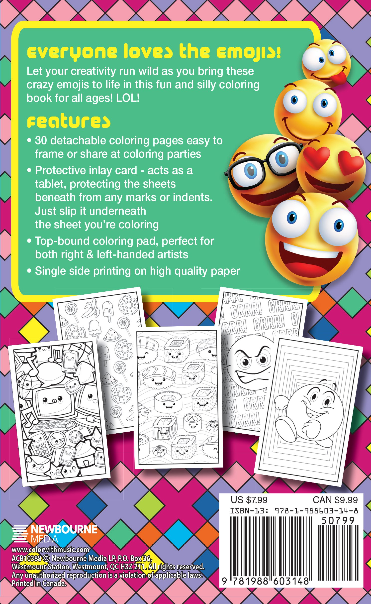 amazon com emoji crazy coloring book 30 cute fun pages for
