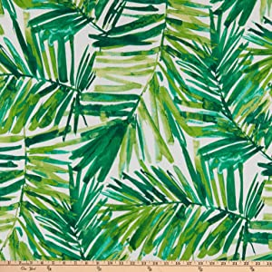 Bryant Indoor/Outdoor Coastal Palm Green Leaf Fabric by the Yard