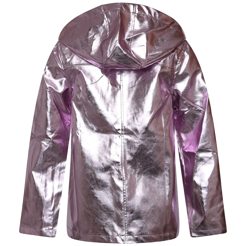 shelikes Womens Gold Metallic Coat Jacket