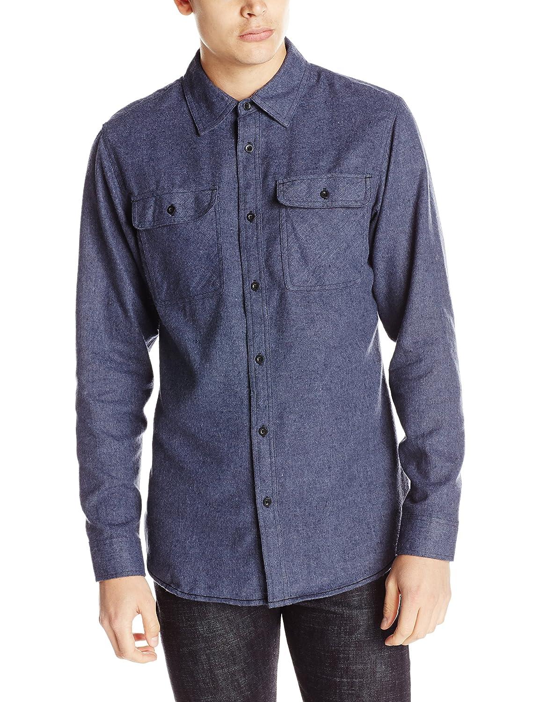 Burnside Men's Carter 2 Solid Flannel Button Down Long Sleeve Shirt Burnside Young Men' s AZBC8287