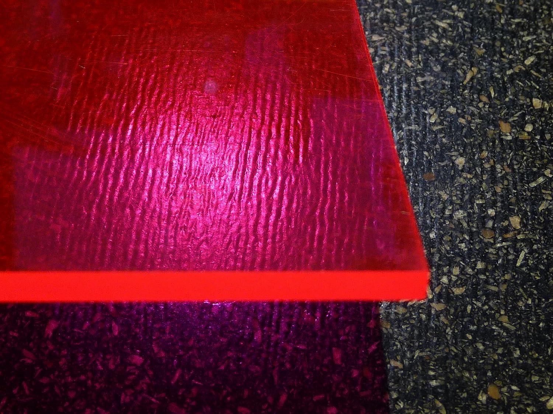Plaque acrylique fluorescent rouge 1000 x 500 x 3 mm Plexiglas® alt-intech PC/PMMA Plaque