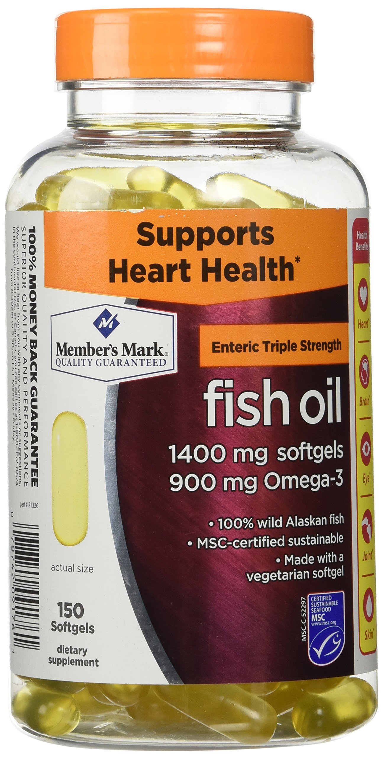 Members Mark Triple Strength Fish Oil 1400mg - 150 Ct by Members Mark