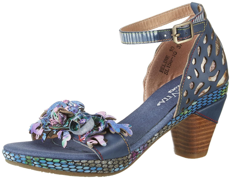 Blau (Jeans) Laura Vita Damen Beline 10 Sandalen
