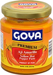 Goya Foods Aji Amarillo Yellow Hot Pepper Paste, 7.5 Ounce (Pack of 12)