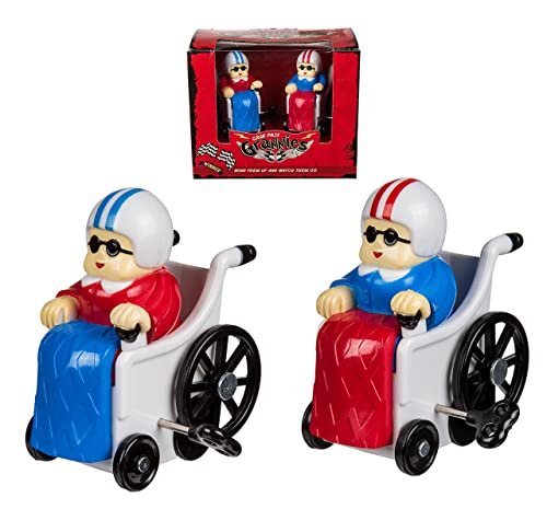 Fun Racing Game Toy - Set of Two Wind Up Racing Grannies