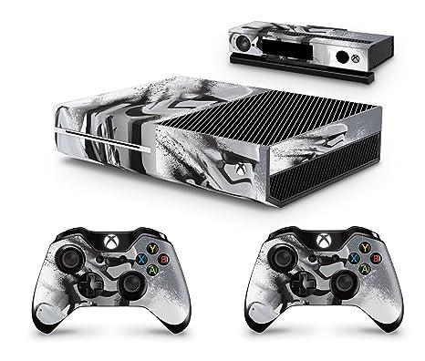 giZmoZ n gadgetZ GNG Xbox ONE Konsolen-Gehäuseaufkleber, Motiv: Star Wars Battlefront Stormtrooper, inklusive 2er-Set mit Auf
