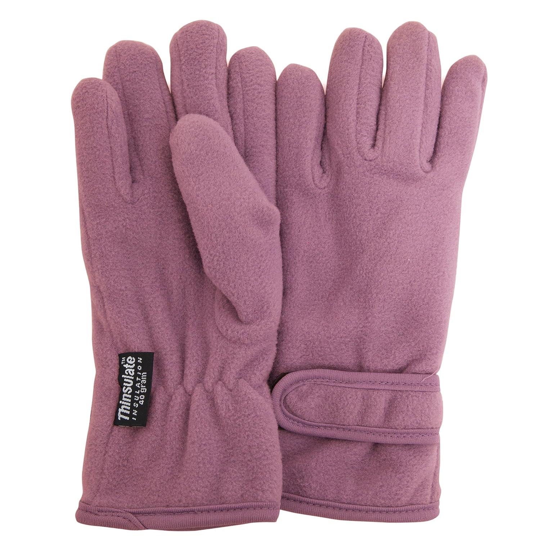 FLOSO/® Girls Childrens//Kids Plain Thermal Thinsulate Fleece Gloves 3M 40g