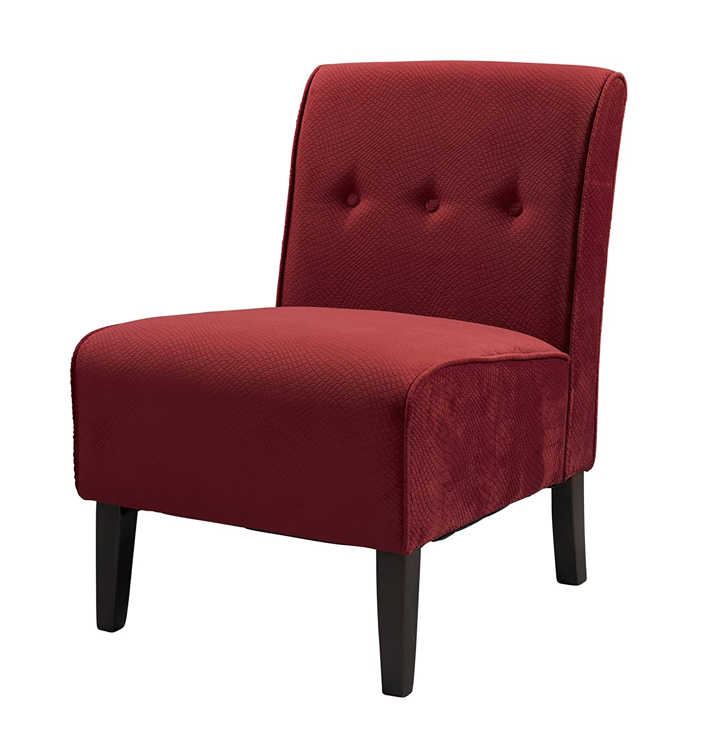 Amazon Linon Coco Accent Chair Red Kitchen & Dining
