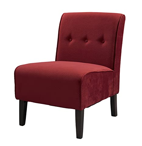 Swell Linon Coco Accent Chair Red Caraccident5 Cool Chair Designs And Ideas Caraccident5Info