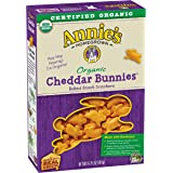 Annie's Organic Cheddar Bunnies, Baked Snack Crackers, 6.75 oz Box