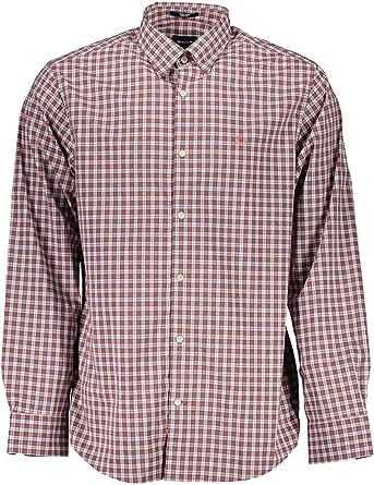 Gant Camisa Cuadros Pequeños Azul y Morado: Amazon.es: Ropa y accesorios
