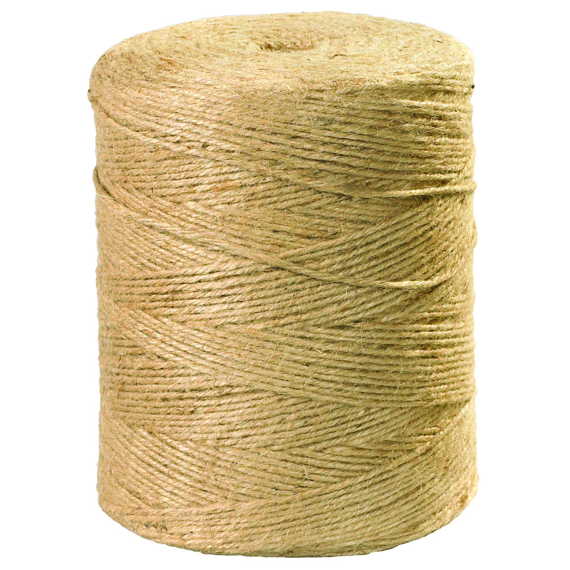 BOX USA BTWJ300 Jute Twine, 5-Ply, 140 lb, Natural, 3000' per Case by BOX USA