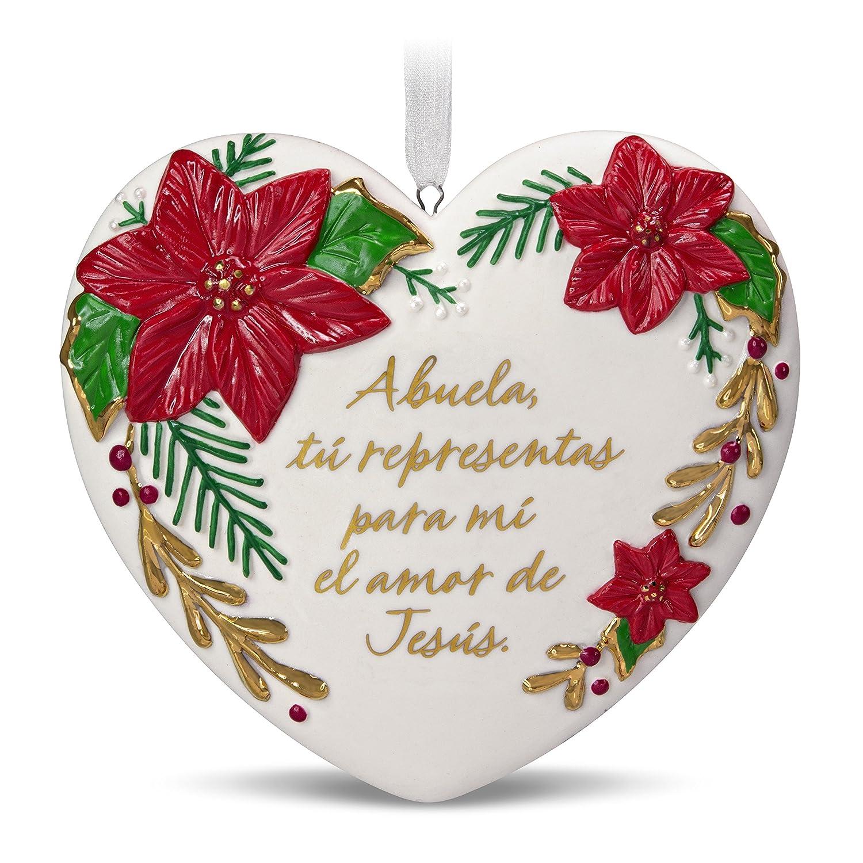 Hallmark Keepsake Christmas Ornament 2018 Year Dated, Abuela Spanish-Language, Porcelain Hallmark Cards