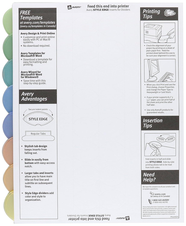 Amazon avery 11201 insertable style edge tab plastic dividers amazon avery 11201 insertable style edge tab plastic dividers 8 tab letter binder index dividers office products saigontimesfo